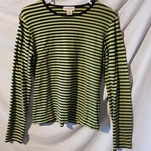 Medium Ann Taylor  blue and green long-sleeve pull